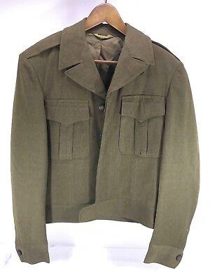 Vtg 1940S Cohen Fein Company Green Wool Jacket Military Army Guc Sz 36 L