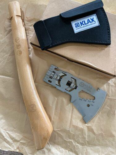 New Klecker Knives 3163 Klax Lumberjack Axe Multi Tool Nylon Sheath & Handle NOS