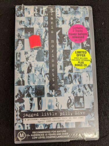 Alanis Morissette- Jagged Little Pill, Live- VHS VIDEO CASSETTE+CD Promo -SEALED