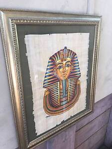 Egyptian papyrus framed paintings Banyo Brisbane North East Preview