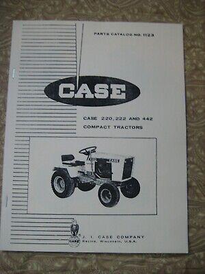 Case Compact Tractors Models 220 222 442 Parts Manual Catalog 1123