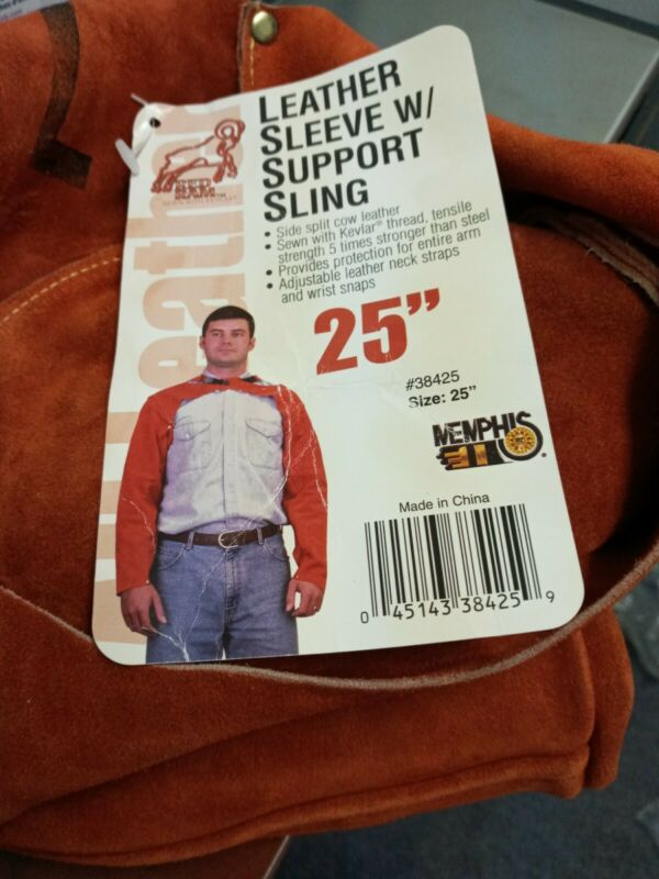 """Memphis Welding 25"""" Leather Sleeves With Support Sling"""