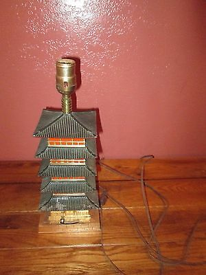 Vintage Pagoda Shaped Musical Lamp needs to be re-wired