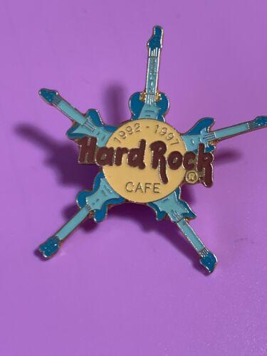 Hard Rock Cafe BERLIN 1997 5th Anniversary PIN 5 Blue Guitars Star - HRC #1249