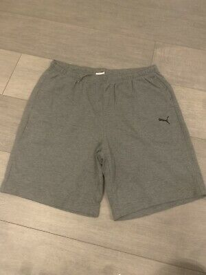 Mens Puma Grey Jogger Shorts Size Xl
