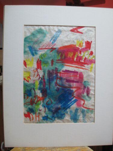 "Taro Yamamoto (1919 - 1994) Mixed Media titled ""Paris"" 1964"