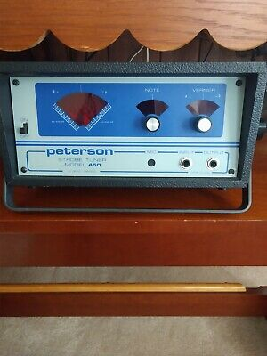 Clean Used PETERSON MODEL 450 STROBE TUNER (Works -