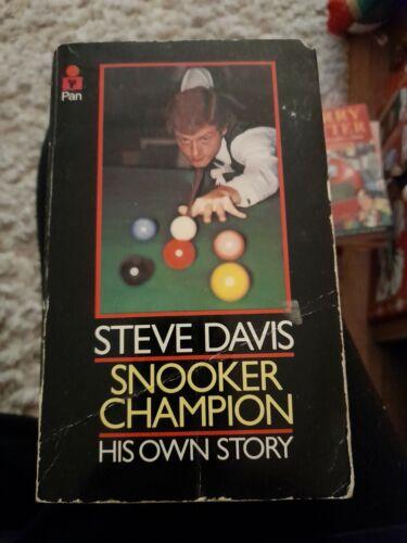 Steve Davis Snooker Champion His Own Story paperback 1981