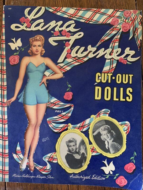 Lana Turner Paper Dolls - Uncut 1943 Original
