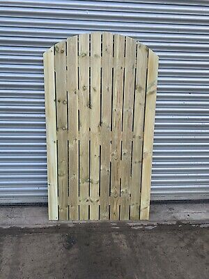 Mellwood Solid Bow Top Timber Gate. Bespoke Wooden Gates Made To Order.