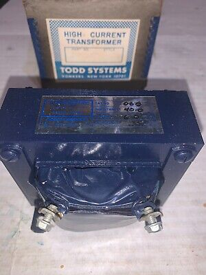 Todd Electric Filter Choke 40.0 Mh 6 Amps .35 Ohms 50-400 Cycles Cat No. Ch-06b