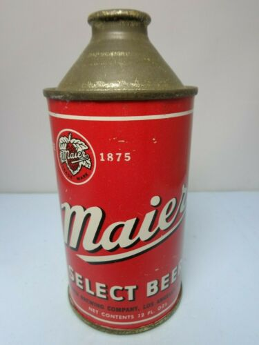MAIER SELECT IRTP CONE TOP BEER CAN #173-12  LOS ANGELES, CALIFORNIA