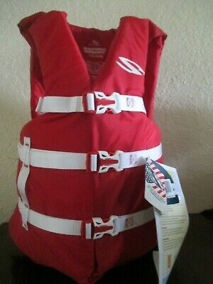 COLEMAN Stearns Adult Classic Universal Life Jacket Flotation Boating Vest RED