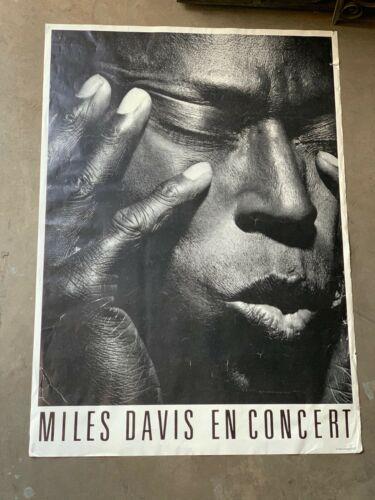 Original Oversized Vintage Poster Miles Davis En Concert Classic 1973