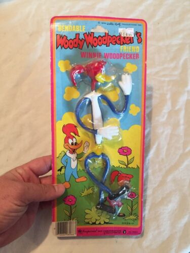 VINTAGE 1979 Imperial Toys BENDABLE WOODY WOODPECKER Rare Figure Toy MOC Sealed