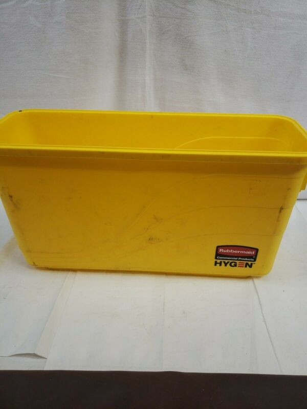 RUBBERMAID COMMERCIAL PRO Plastic Charging Bucket,7 gal.,Yellow, 1791802, Yellow