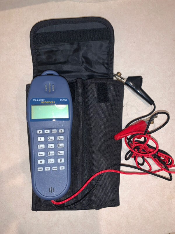 Fluke network TS25D Set with case And Leads
