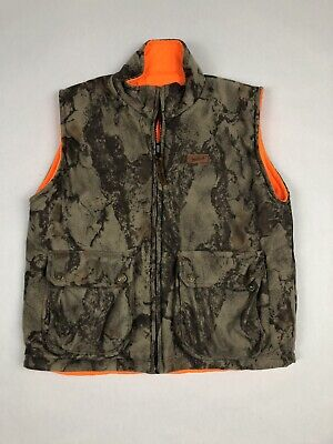 Vintage Woolrich Insulated CAMO/ORANGE REVERSIBLE Hunting Vest Youth Large 14/16