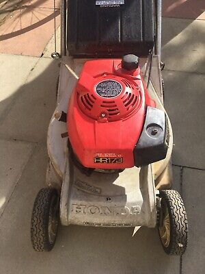 "Honda HR 173 Petrol lawn mower 16""  with  grass bag good working order"