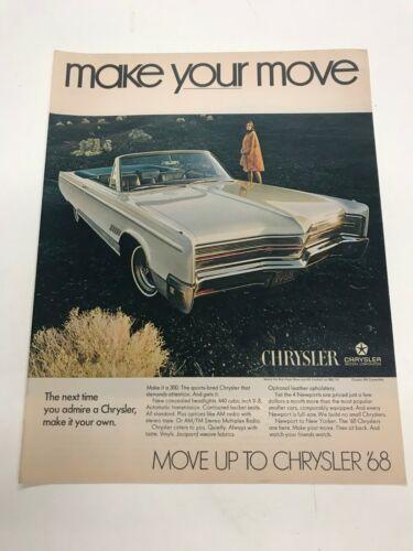 1968 Chrysler 300 Convertible Automobile Car Vintage  advertisement