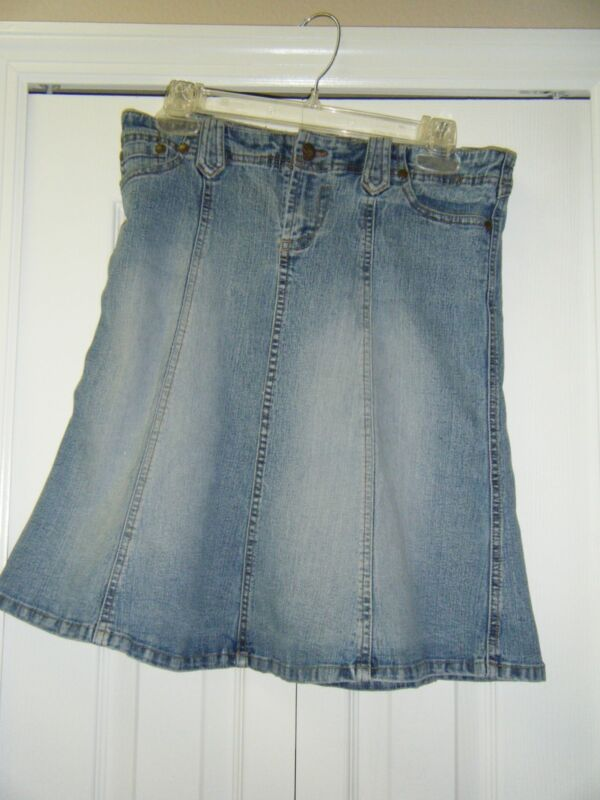 XOXO 5/6 JEAN SKIRT COTTON 2 FRONT POCKETS CUTIE!