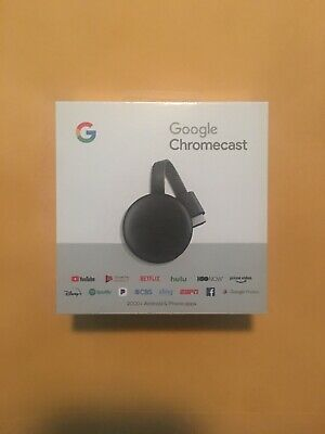 Google Chromecast 3rd Gen Digital HDMI Media Streaming Brand New & Sealed