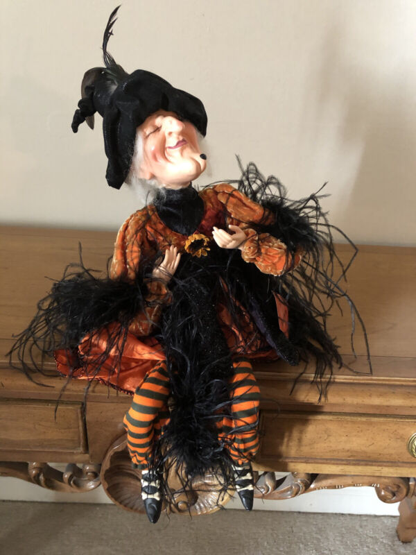 """Vintage """"Witch Crafters"""" Halloween Witch Shelf Sitter-NWT-Amazing Detail"""