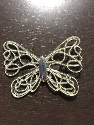 Neiman Marcus Silver Butterfly Clip
