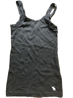 Girls Medium Navy Blue abercrombie kids Tank Top