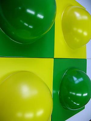 4 Bubble Elemente 70er 60er Style POP ART Wand Bild  2 gelb 2 hellgrün  Nr 9