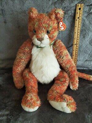 (1) Ty Beanie Buddies Classic Colorful Orange Cat - Allioop TYLUX 2000