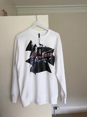 Mens White versace Jumper. Neon Print. SUPER RARE. UNAVAILABLE ANYWHERE. £210RP