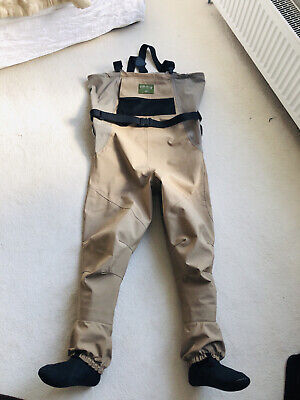 Orvis Pro Guide 3 Stocking Foot Chest Waders Sz Medium 10-11 Good Used Condition