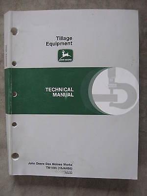 John Deere Tillage Equipment Technical Manual Disk Ripper Chisel Plow Cultivator