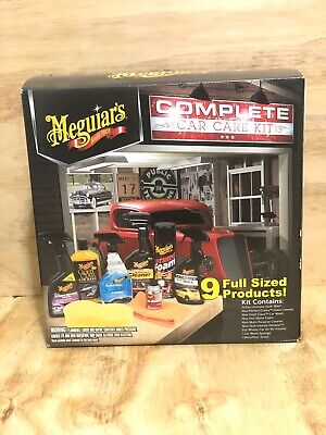 Meguiar's Complete 9 Full Size Interior and Exterior Car Care Products Gift Kit