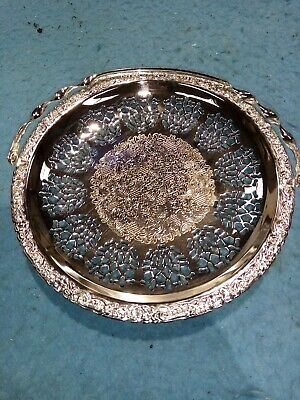 Silver Plated Cake Carrying Tray