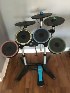 Wii Rock Band drum set with game.