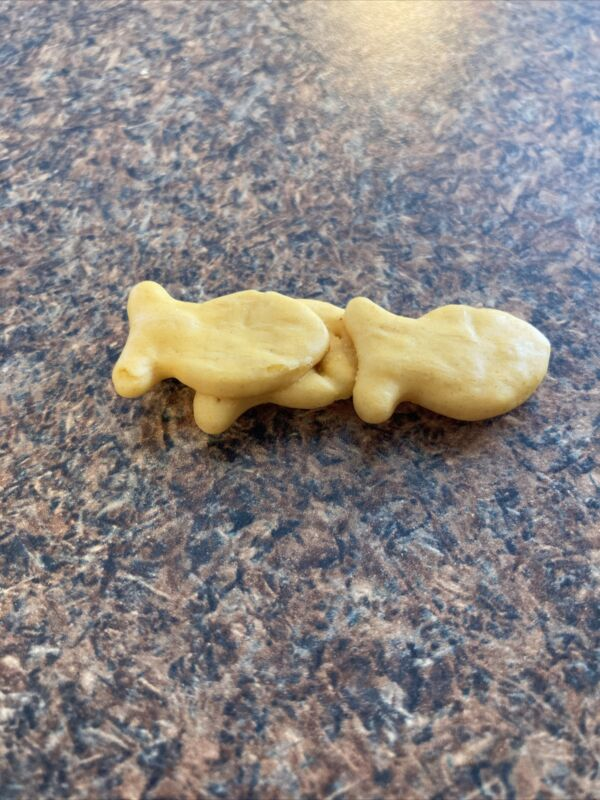 RARE Triple Conjoined Goldfish Crackers