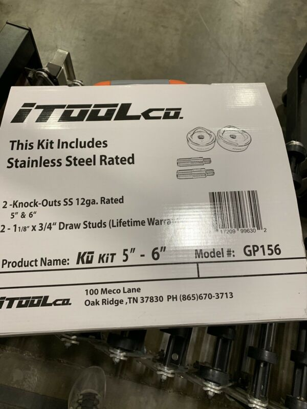 """ITOOLCO GP156 GEAR PUNCH DIE AND PUNCH SET,  5"""" AND 6"""""""