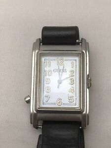 GUESS Wrap Watch Soft Black Leather, Nut And Bolt Closure