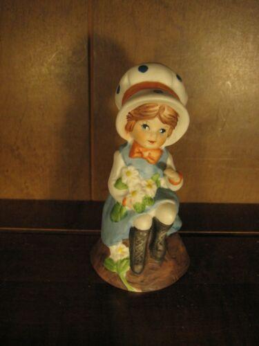 1979 Adorabelles Jasco Porcelain Bell Girl Figurine