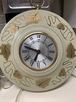 Sessions Antique Electric Wall Clock, Metal Floral Pattern Housing, Vintage