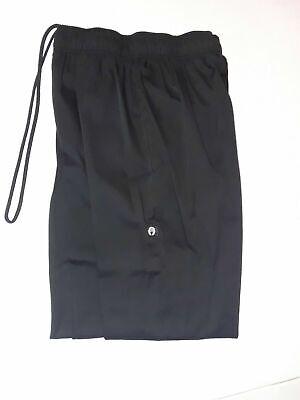 Chef Works Black Uniform Cooks Kitchen Pants Trousers W Zipper All Sizes Good