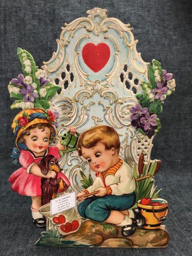 Antique German Die Cut 3-D Pop-Out Valentine