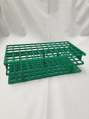 Nalgene Plastic 13mm Test Tube Vial Rack Holder Unwire 6x12 72 Place Green
