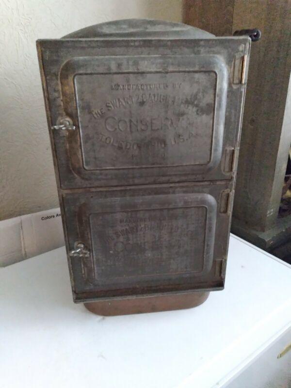 Antique Swartzbaugh Conservo Toledo Ohio Smoker Canner Luthe DesMoines Iowa Oven