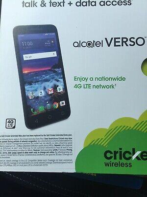 CRICKET WIRELESS ALCATEL VERSO PREPAID SMARTPHONE 4G LTE 16GB CELL PHONE NEW