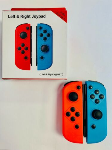 Replacement Neon Red&Blue Joy-Con (L&R) Wireless Controllers for Nintendo Switch