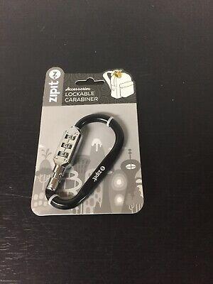 Zipit Metal Key Rings Holder Lockable Carabiner Black Black Carabiner Key Holder