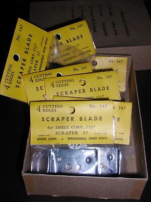 7 New Embee Scraper Blades - 1 12 1.5 4 Cutting Edges 347 Paint Scraper 37
